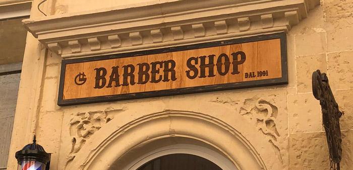insegne per negozi barbershop