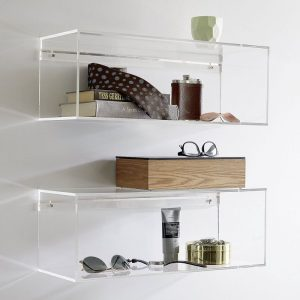 mensole plexiglass trasparenti design